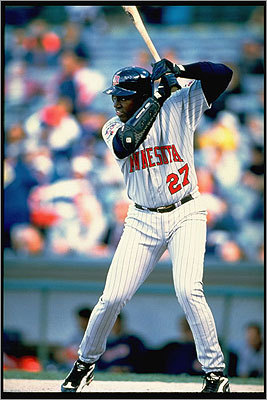 1997 David Ortiz broke into the big leagues in 2003 as a relative unknown with the Minnesota Twins. In a short stint with the major league club, Ortiz hit .327 in 15 games for the Twins, with one home run, 6 RBIs, and 19 strikeouts.