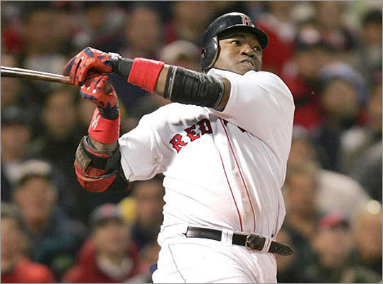 2004 playoffs Ortiz's lore in a Red Sox uniform extends far beyond stats, however. His heroics in the 2004 playoffs, including this game-winning RBI single in the 14th inning of Game 5 of the ALCS, still live large in the minds of Red Sox fans. Ortiz had two game-winning hits in those playoffs and has 16 career walkoff hits.