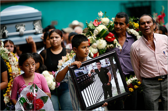 Fredy Zepeda died after he was hit by a driver as he loaded his 1-year-old son into a car. Zepeda's family established a fund in his name in order to raise money to send his body back to Guatemala. Brandon carried his father Fredy Zepeda's photo during his funeral procession in Atescatempa, Guatemala, on Thursday, July 30. Zepeda moved to the United States when Brandon was 9 months old and did not return to Guatemala until his death. Brandon never met his father.