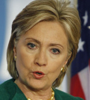 "HOPING FOR 'SOME POSITIVE RESPONSE' Secretary of State Hillary Rodham Clinton said if Iran refuses to negotiate, ""next steps can include certain sanctions.''"