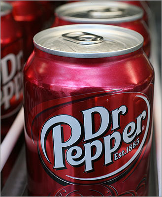 Coca-Cola's Dr Pepper has 9.5 teaspoons of sugar in a 12-oz can, or about 41 grams.