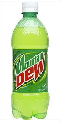 Pepsi's Mountain Dew has more than one teaspoon more sugar than a regular 12-oz can of Pepsi, at 11 teaspoons.