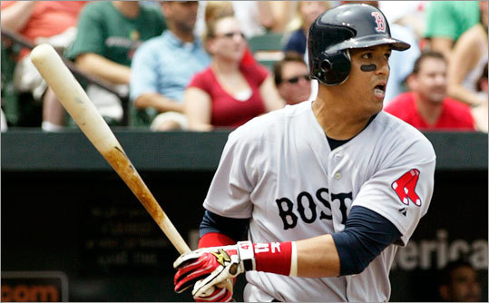 Victor Martinez registered five hits and drove in four runs for the Sox.