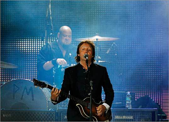 Beatles legend Paul McCartney performed Wednesday night at Fenway Park in Boston.