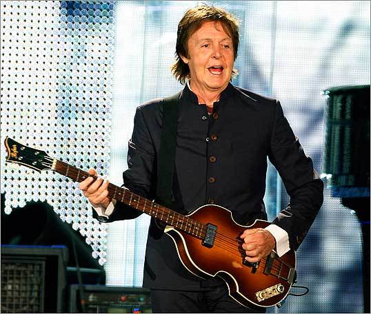 McCartney performed at Fenway Park.