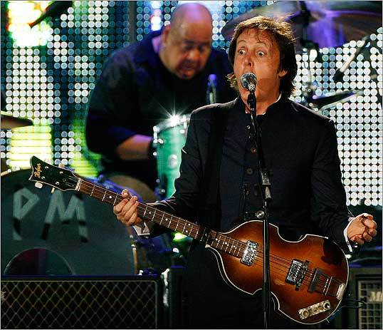 McCartney was his usual animated self as he put on a show for fans.