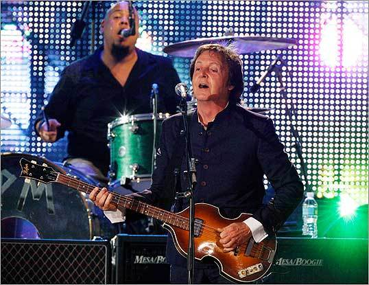 McCartney and his band rocked Fenway.