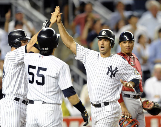 Since July 1, the Yankees are 22-10, and they have the best record in baseball since the All-Star break (15-5). The Rays, who trail the Sox by 2.5 games in the wild-card race, are 35-20 since the beginning of June, and 12-7 since the break. As for the Sox, since July 1, they are 15-15, and 8-11 since the break. They've had the misfortune of hitting a slide while their rivals have heated up. There's no better time for a reversal of fortune than tonight, with Beckett on the mound.