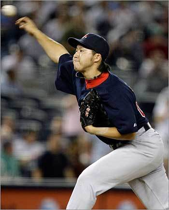 Tazawa delivered the first pitch of the 14th inning.