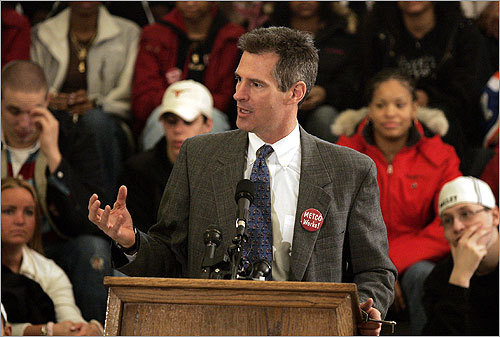 Scott Brown Republican state Senator Scott Brown announced September 12 that he will seek Kennedy's seat. Brown was first elected to the Massachusetts State Senate in 2004. He previously served in the Massachusetts House of Representatives from the Ninth Norfolk District. Strengths: Brown is a frequent guest on local political radio and television shows, often appearing as an outspoken representative of the local Republican Party. Brown also has a high-profile family. His wife is WCVB-TV reporter Gail Huff, and his daughter, Ayla, is a former contestant on 'American Idol.' Weaknesses: Republican strength has steadily shrunk in the Massachusetts House and Senate in recent years. Brown's level of statewide support is unclear.
