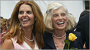 Maria Shriver (left) and Eunice Kennedy Shriver