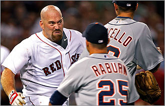Youkilis charges mound after hit by pitch
