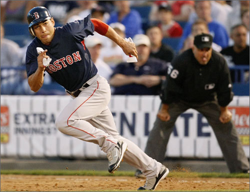 Jacoby Ellsbury is in just the second full season of his big league career, yet he already ranks among the greatest base thieves in Red Sox history. Ellsbury stole his 55th base of the season Tuesday vs. the Chicago White Sox to break Tommy Harper's franchise single-season record for steals set in 1973.