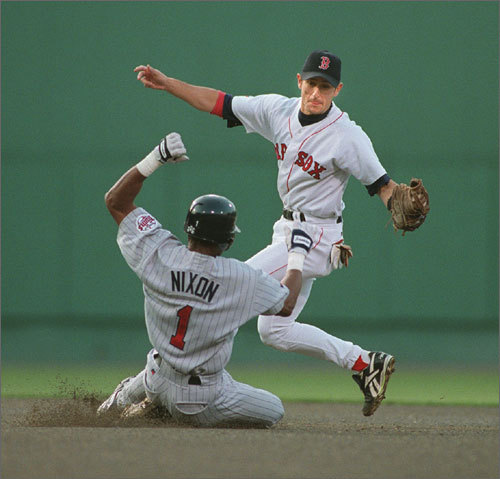 Otis Nixon played for one season with the Red Sox in 1994, and the speedy center fielder made sure to steal his fair share of bases. He tied Tris Speaker for second on the single-season list with 42 steals. The Red Sox traded him to the Rangers in December 1995 for Jose Canseco. In his 17-year career, Nixon stole 620 bases, good for 16th all time.