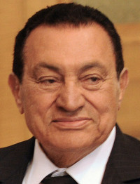 Hosni Mubarak is set to meet with President Obama today.