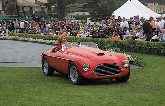 A 1949 Ferrari 166 MM Touring Barchetta, one of many early Barchettas at the show.