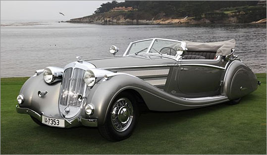 And now, the requisite coastal shots of the show's winner, the 1937 Horch.
