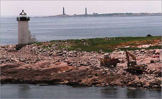 Thacher Island Twin Lights were built in the late 1880s and remain the only twin lighthouses still in operation in the United States. They have been designated a National Historic Landmark. Over the years, multiple restorations have taken place to preserve the structures.