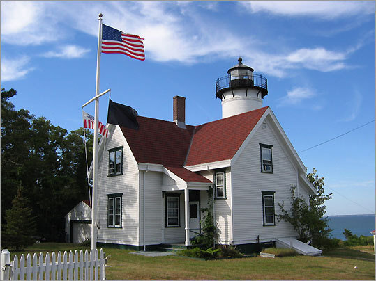 Located a few miles from Vineyard Haven, the 45-foot tall West Chop Light was built in 1891, and was among the last of the Martha's Vineyard lighthouse stations to be automated. Today, it still remains an active aid to navigation. *Closed to the public