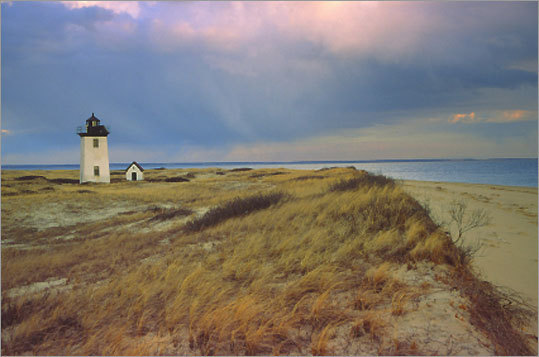 When it was first lit in 1872, Wood End Light became the third lighthouse to be established in Provincetown. In 1981, solar panels and batteries were installed to power the lighthouse, and today it still remains an active guide to maritime traffic. *Closed to the public