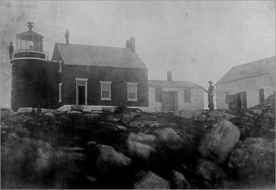 Located at the entrance to Somes Sound, the only fjord on the east coast of the United States, the 1839 Bear Island Light (seen in this late-19th century photo) was deactivated in 1981. Today, it is leased as a private residence and is not open to the public. The house is visible from the mainland along Shore Road in Manset, but is best seen from the water. The lighthouse is listed with the National Register of Historic Places