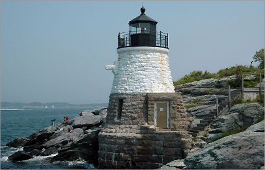 Located at the end of historic Ocean Drive, this light, built in 1890, remains an active beacon on Narragansett Bay. It was built on land once owned by famous naturalist, oceanographer, and zoologist Alexander Agassiz of Harvard University. After refusing to sell for some time, he finally relented and sold the land to the government for $1. *Not open to the public.