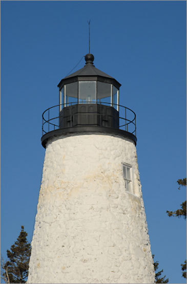 This 1828 structure is a modest, yet classic form of a New England lighthouse. The structure is owned by the town of Castine, which has restored the original structure. The lighthouse is closed to the public, but visitors are welcomed to roam the surrounding grounds.