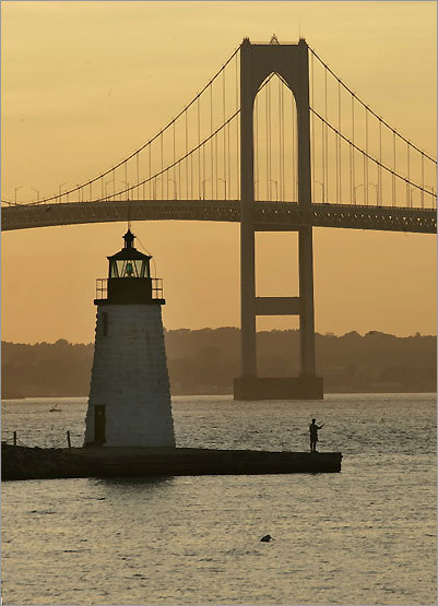 Built in 1842, Goat Island Light provides vital passage into Newport Harbor from nearby Goat Island.