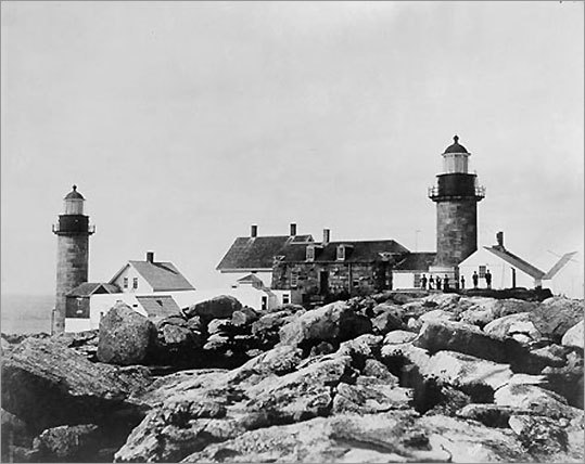 It was on this remote island that Abbie Burgess became a Maine legend. As a teenager, Burgess maintained the lighthouse through winter storms while her father was on the mainland. The twin towers of Matinicus Rock Light were first erected in 1827. Access to the island is limited.