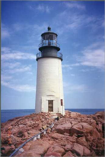 The story of the Moose Peak Light, built in 1827, according to the Maine Tourism Bureau: 'One keeper sought refuge in this remote light from his wife and daughters, who were renowned for their foul mouths and rude behavior. But they followed him. The unhappy man, Mr. Theo E. Dodge, finally was dismissed because, an inspector wrote, although he 'has always kept a good light...he is utterly unable to control either his wife or his grown-up daughters, nor can he give any assurance that...they will not return again and make trouble.'' * Not open to the public.