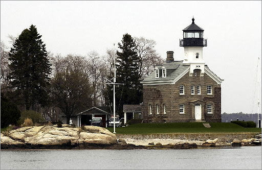 Designed in the same vein as Block Island's North Light, the Morgan Point Light came into existence in 1868. It only remained in operation until 1921, when it was replaced by an automatic light to the east. It is privately owned and not open to the public.