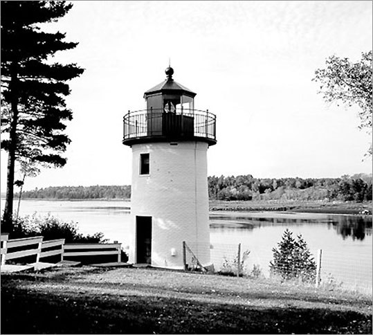Whitlocks Mill Light Station was built in 1892 and is the northernmost light in Maine. It is also the last to be built in the state. The first light here was simply a lantern that hung from a tree. The station was upgraded in 1910, when a more conventional lighthouse was built. *Not open to the public.