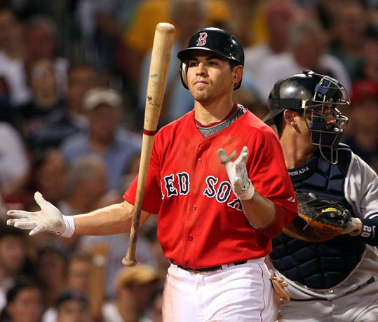 Jacoby Ellsbury tossed his bat after striking out against Andy Pettitte in the third inning. By the middle of the fifth inning, the Yankees had a 12-1 lead over the Red Sox on Friday night.