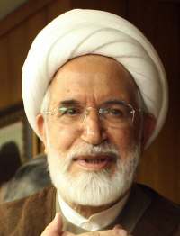 Hard-liners have denounced Mehdi Karroubi.