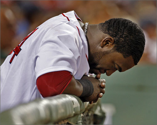 Despite being on a tear recently, and a .304 lifetime hitter against the lefthanded CC Sabathia, David Ortiz wasn't in the lineup for Sunday night's game. Red Sox manager Terry Francona decided to use Mike Lowell as the DH.