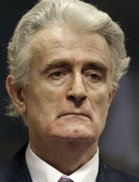Radovan Karadzic is leading his own defense.