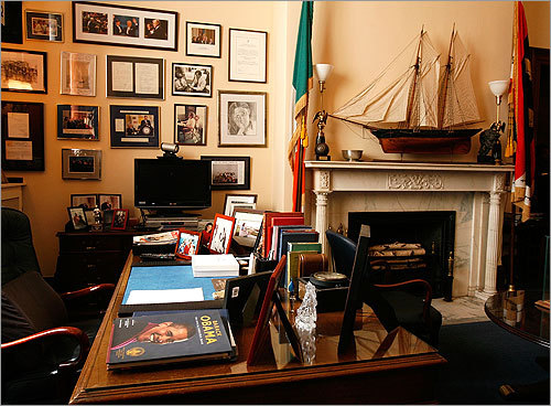 The personal office of Edward Kennedy at the Russell Senate Office Building on Capitol Hill in Washington.