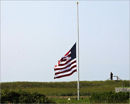 Senator Edward M. Kennedy, the last surviving brother in a political dynasty and one of the most influential senators in history, died Tuesday night at his home on Cape Cod after a year-long struggle with brain cancer. He was 77. A flag flew at half-mast as a police officer stood watch near the Kennedy compound in Hyannis Port.
