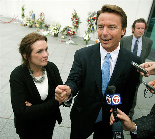 John Edwards and his wife, Elizabeth.