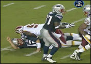 Albert Haynesworth's hit on Tom Brady.