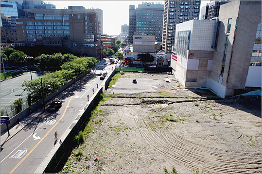 Stalled site: Longwood Center biotech lab Location: Corner of Longwood and Brookline avenues Estimated cost: $300 million Status: Construction halted in November 2008
