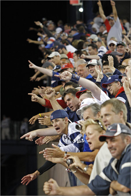 After a rocky start, the Patriots gave Gillette Stadium fans a reason to cheer as they stunned the Bills with two touchdowns late in the fourth quarter to win their season opener.