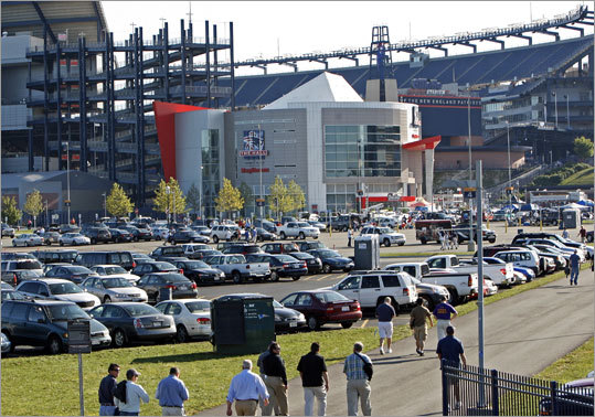 Several hours before kickoff, Gillette Stadium was already filling up as Patriots fans began to stream in for the season opener vs. the Bills