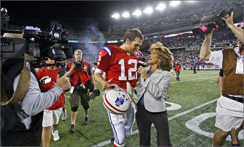 The Patriots' quarterback wasn't exactly vintage Brady, but he was able to finish the job when it mattered most. In the fourth quarter Brady led the Pats' offense to 15 points on 178 total yards in three drives.