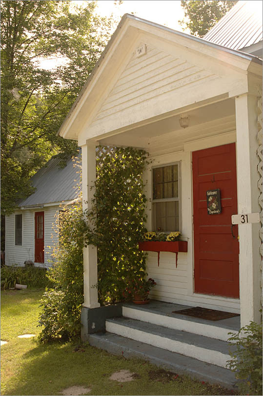 """First impressions are important. """"While the agent is fumbling for the key,"""" says realtor Keith Shapiro of Coldwell Banker in Framingham, """"buyers are looking at the door. You don't want them going in with a negative attitude."""" So paint the front door, add potted chrysanthemums and other fall flowers, and groom the lawn and bushes. If the storm door or mailbox is rusty, replace it, and if the front steps are rickety, fix them."""