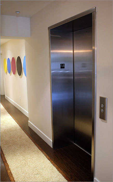 A look at an elevator inside the building on Columbus Avenue.