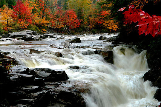 It doesn't get much better for New England leaf-peepers than New Hampshire's White Mountains Trail, a 100-mile scenic loop that travels through the Kancamagus Highway, North Conway, and Crawford Notch and Franconia Notch State Park. This National Scenic Byway offers some of the most breathtaking scenery that New England has to offer. Experience the wonder of this foliage option with our audio-guided GPS tour.
