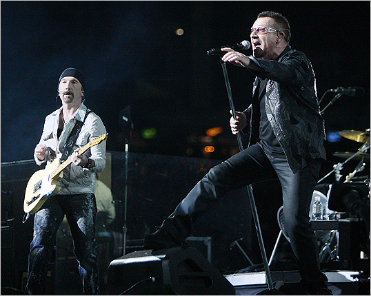 The Edge and Bono bring decades of experience to the stage.