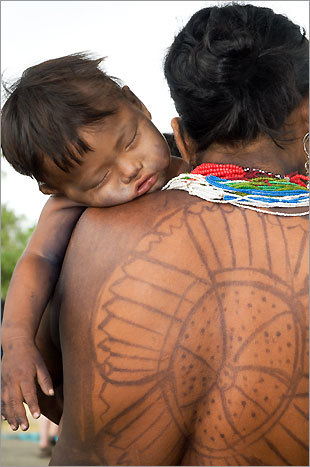 The Embera paint their bodies using a dye that comes from the local jagua fruit and passengers can get a temporary tattoo while here.