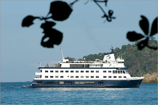 Sixty-four passengers cruised on the Pacific Explorer.